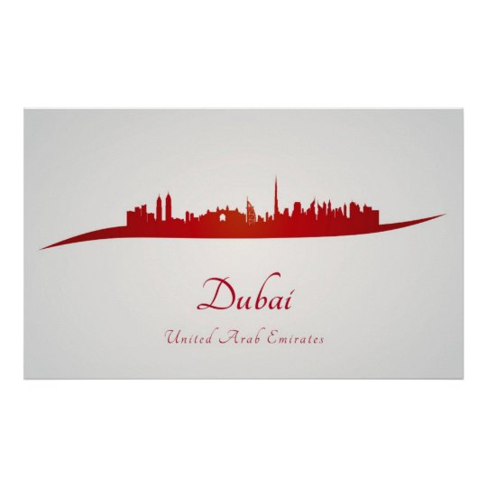 Dubai skyline in network poster