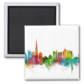Dubai Skyline Square Magnet