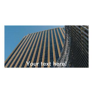 Dubai skyscraper photo card template