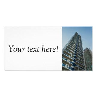 Dubai skyscrapers custom photo card