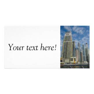 Dubai skyscrappers photo greeting card