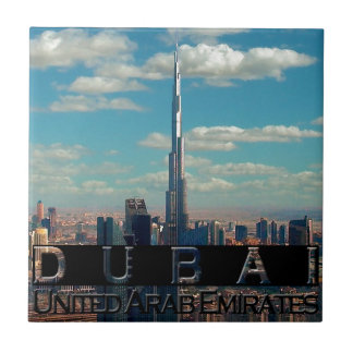 Dubai UAE Souvenir Small Square Tile