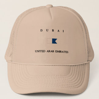 Dubai United Arab Emirates Alpha Dive Flag Trucker Hat