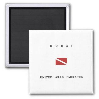 Dubai United Arab Emirates Scuba Dive Flag Magnet