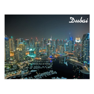 Dubai, United Arab Emirates skyline at night Postcard