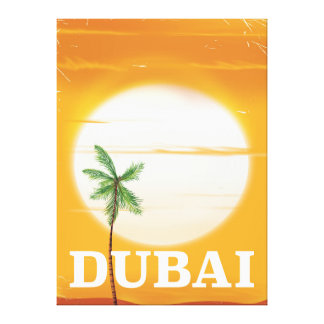 Dubai vintage style vacation poster canvas print