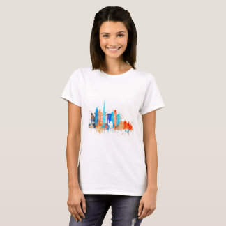 Dubai watercolor skyline T-Shirt