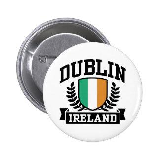 Dublin 6 Cm Round Badge