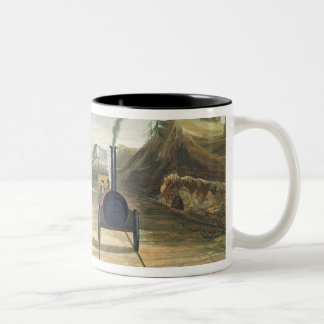 Dublin and Kingstown Railway: From the Footbridge Two-Tone Coffee Mug