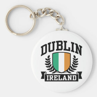 Dublin Basic Round Button Key Ring