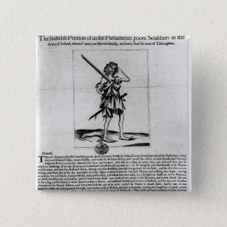 Dublin Broadsheet, 1647 15 Cm Square Badge