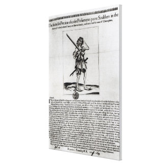 Dublin Broadsheet, 1647 Canvas Print