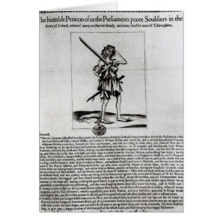 Dublin Broadsheet, 1647 Greeting Card