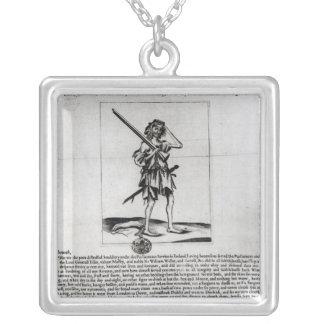 Dublin Broadsheet, 1647 Silver Plated Necklace