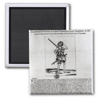 Dublin Broadsheet, 1647 Square Magnet