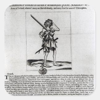 Dublin Broadsheet, 1647 Square Sticker