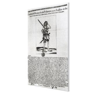 Dublin Broadsheet, 1647 Stretched Canvas Print