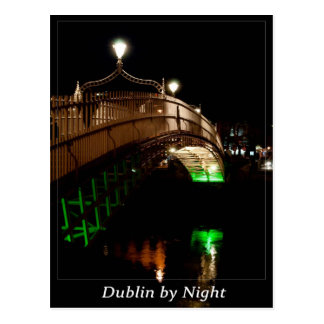 Dublin by Night Postcard