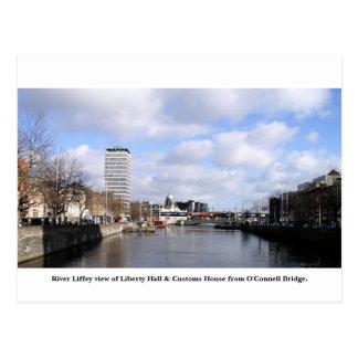 Dublin City Ireland, Liberty Hall, Customs House Postcard