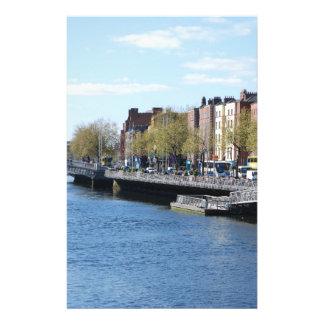 Dublin City on The Liffey 14 Cm X 21.5 Cm Flyer
