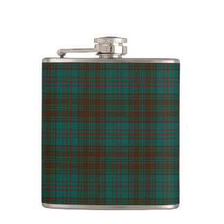 Dublin County Irish Tartan Hip Flask