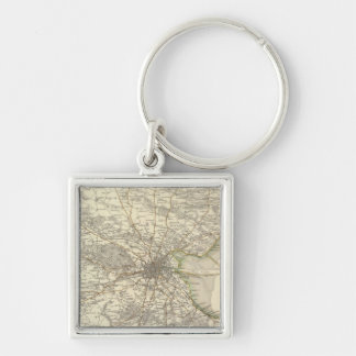 Dublin environments Silver-Colored square key ring