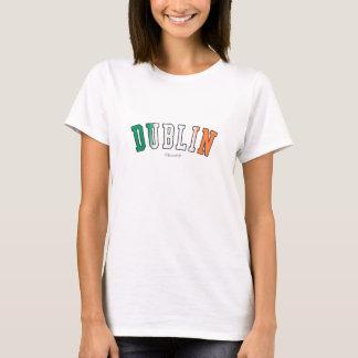 Dublin in Ireland national flag colors T-Shirt