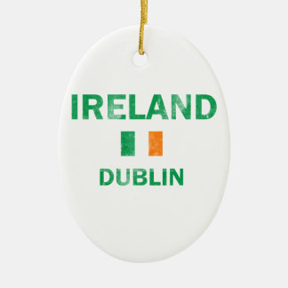 Dublin Ireland Designs Christmas Ornament