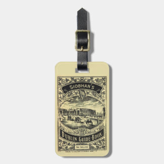 Dublin Ireland Guide Book Personalized Luggage Tag