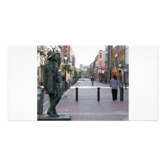 Dublin Ireland - James Joyce sculpture Customised Photo Card