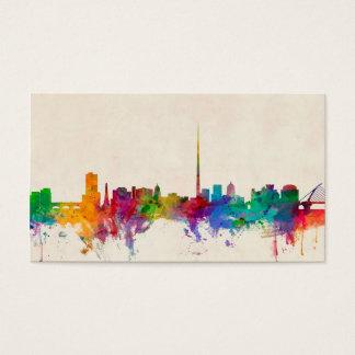 Dublin Ireland Skyline Cityscape Business Card