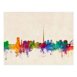Dublin Ireland Skyline Cityscape Postcard