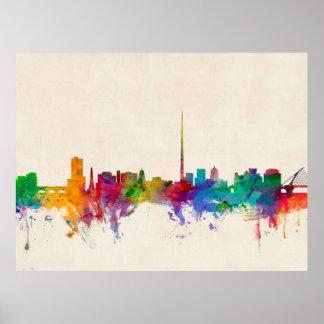 Dublin Ireland Skyline Cityscape Poster