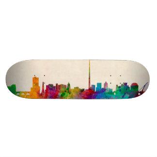 Dublin Ireland Skyline Cityscape Skate Deck