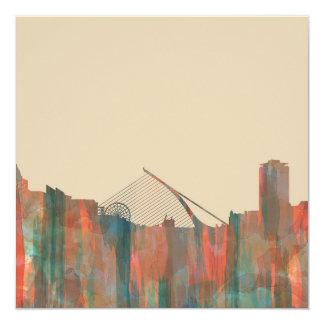 Dublin  Ireland Skyline-Navaho 13 Cm X 13 Cm Square Invitation Card