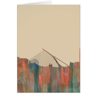 Dublin  Ireland Skyline-Navaho Greeting Card