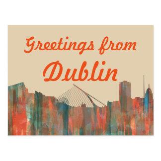 Dublin  Ireland Skyline-Navaho Postcard