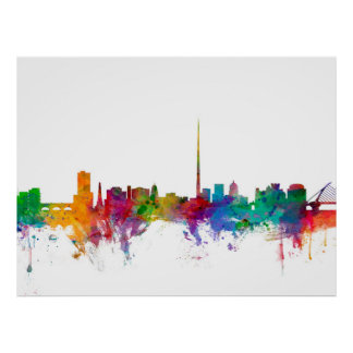 Dublin Ireland Skyline Poster