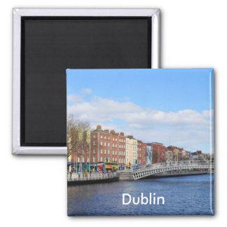 Dublin. Ireland Square Magnet