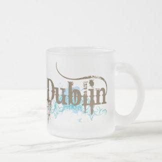 Dublin Ireland T-shirt Frosted Glass Coffee Mug