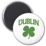 Dublin Irish Shamrock 6 Cm Round Magnet