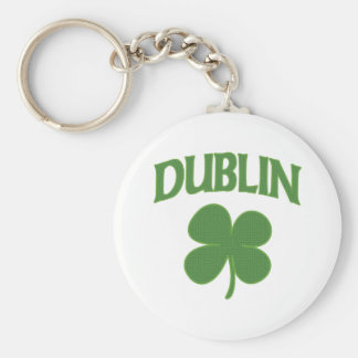 Dublin Irish Shamrock Key Ring