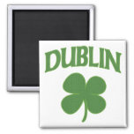 Dublin Irish Shamrock Square Magnet