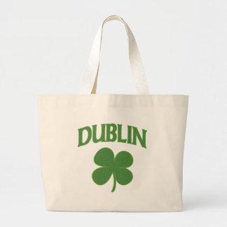 Dublin Irish Shamrock Tote Bags