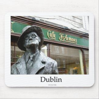 Dublin Irlanda Café Kylemore James Joyce Statue Alfombrillas De Ratones
