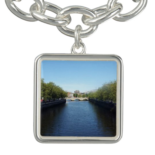 Dublin River Liffey Bridge Charm Bracelet