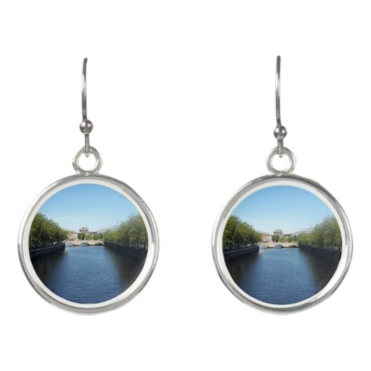 Dublin River Liffey Bridge Drop Earrings