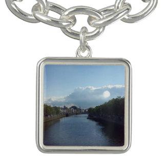 Dublin River Liffey Landscape Charm Bracelet