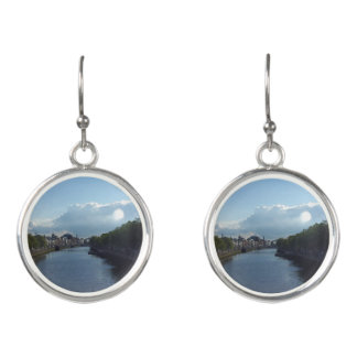 Dublin River Liffey Landscape Drop Earrings