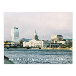 Dublin River Liffey Spire Customs House Postcards